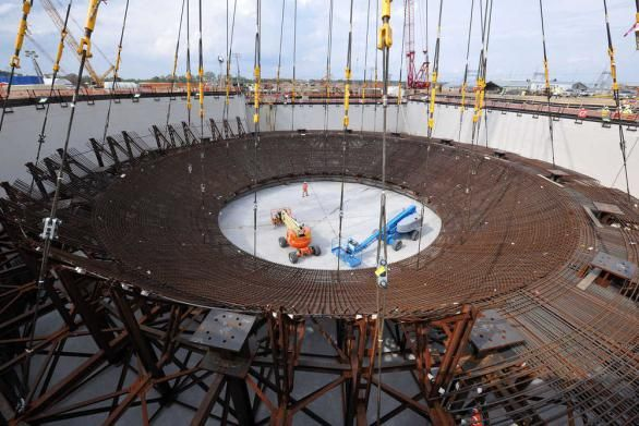 Nuclear Cradle Lifted Into Place At Vogtle Unit 3