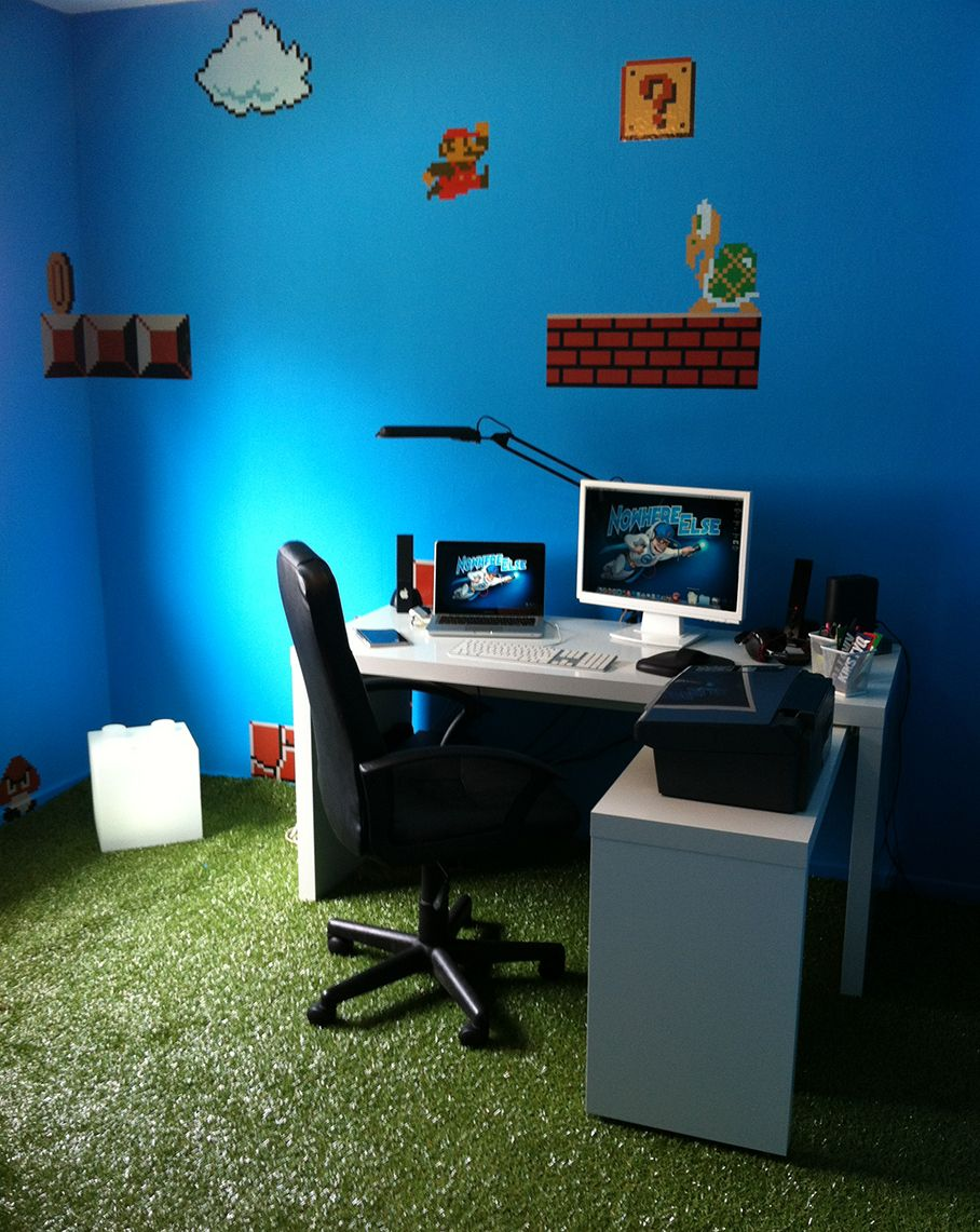 "My Brand New ""Super Mario Bros"" themed Office :)"
