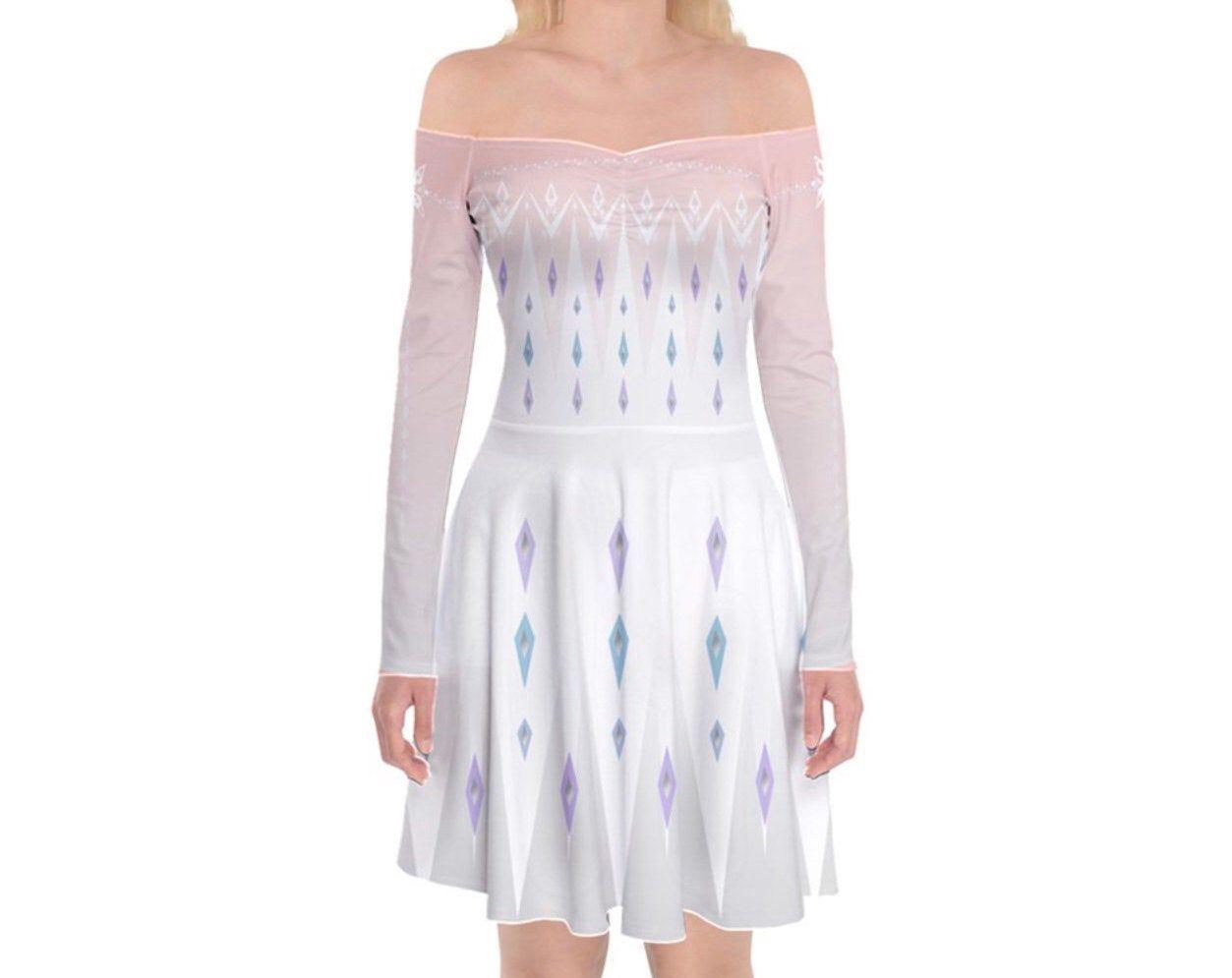 Source By Lucikwiatkowski Halloween White Dress In 2020 Frozen Elsa Dress Elsa Dress Dresses