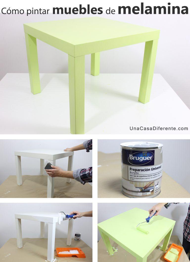 Cómo-pintar-muebles-de-melamina-mesa-ikea | Cambiando estilos ...