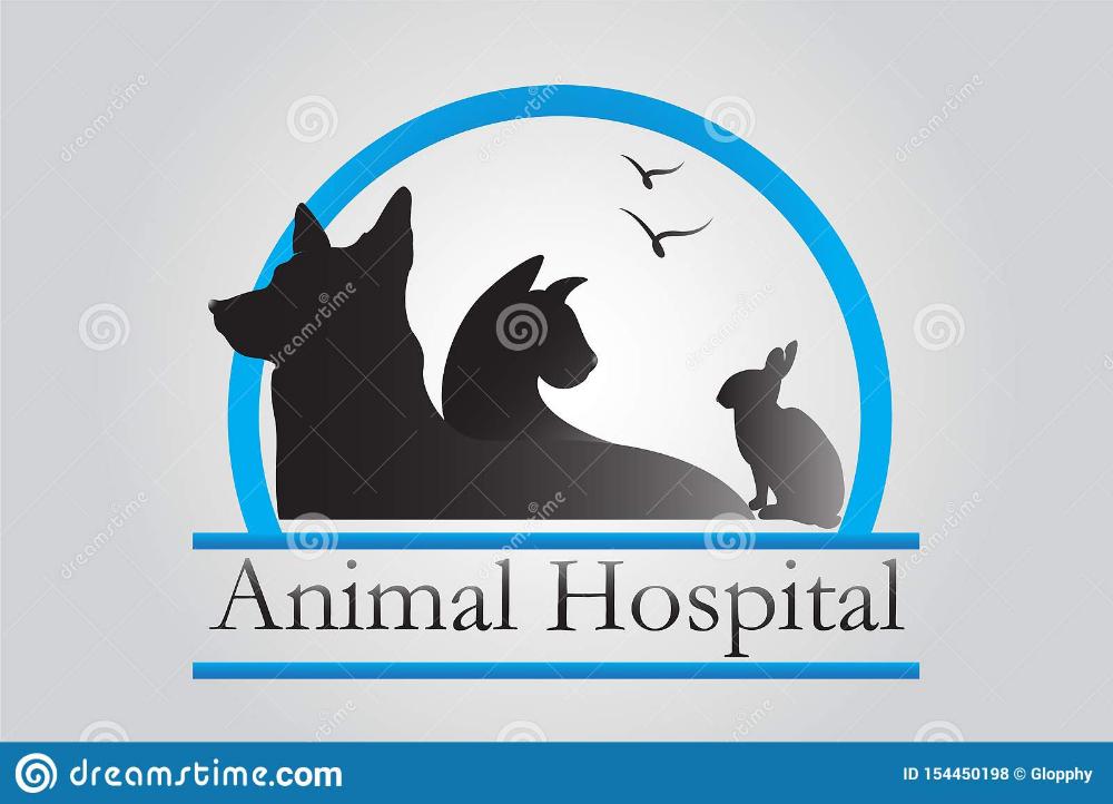 Logo Pets Veterinary Business Stock Vector Illustration