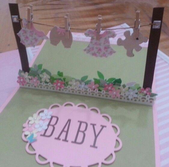 Pop up card baby shower