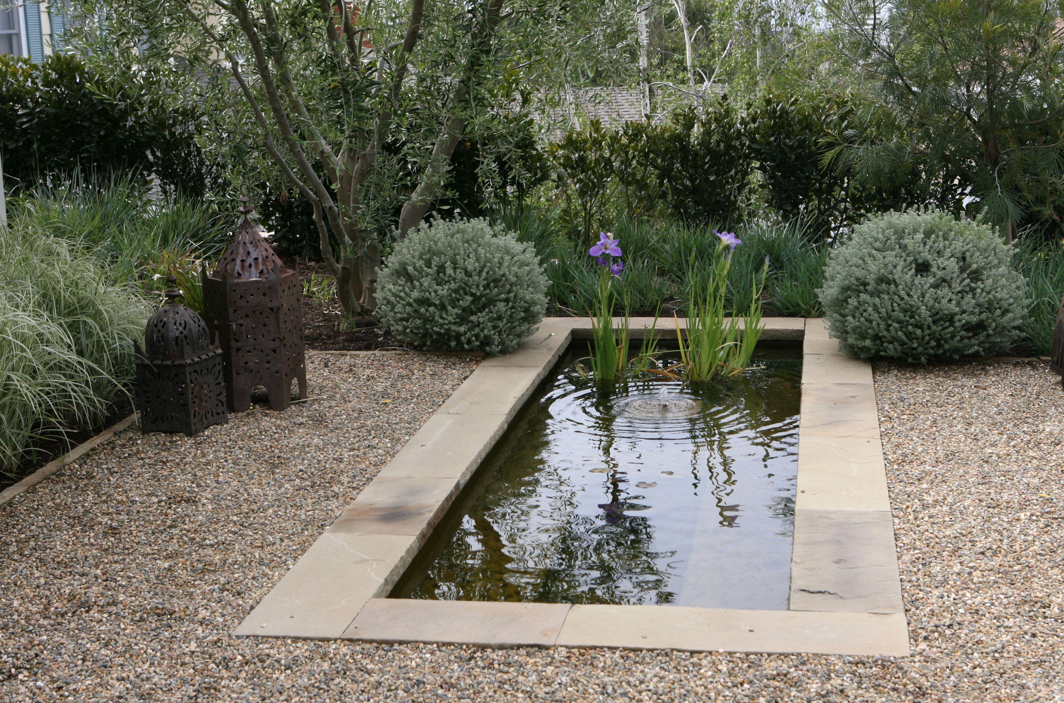 Reflecting Pool In A Los Angeles Garden By Joseph Marek Landscape