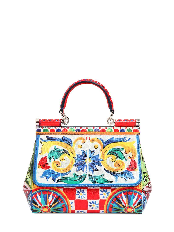 Sicily printed shoulder bag - Multicolour Dolce & Gabbana ylaR2