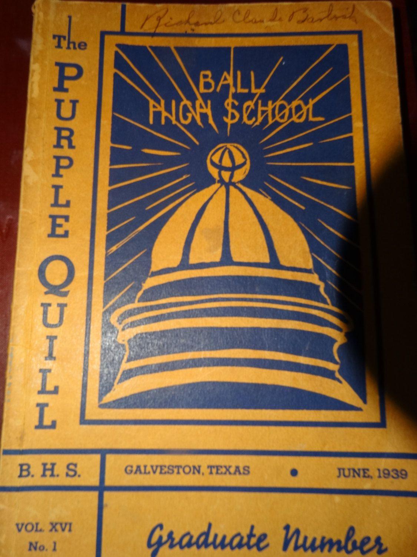 1939 The Purple Quill Yearbook Galveston Ball High, Vol. XVI No. 1 High