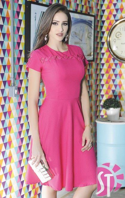 8cce8f4b8 VESTIDO CREPE - ATACADO | Vestidos | Fashion dresses, Dress outfits ...