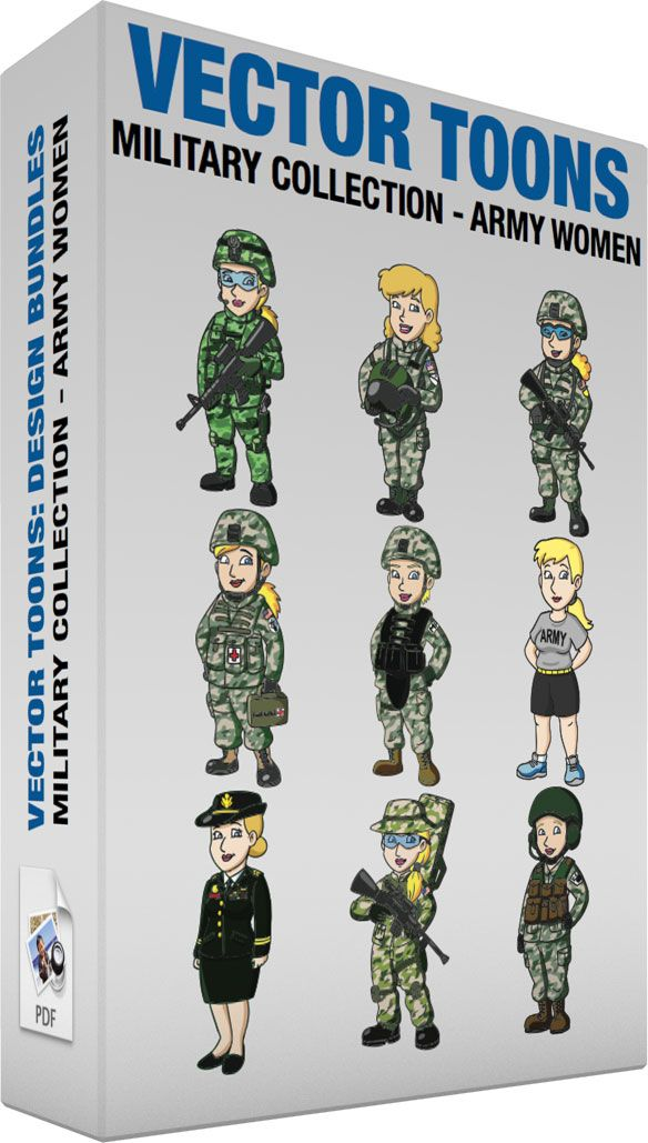 e154e3adfe Military Collection Army Women #cartoon #clipart #vector #vectortoons  #stockimage #stockart #art