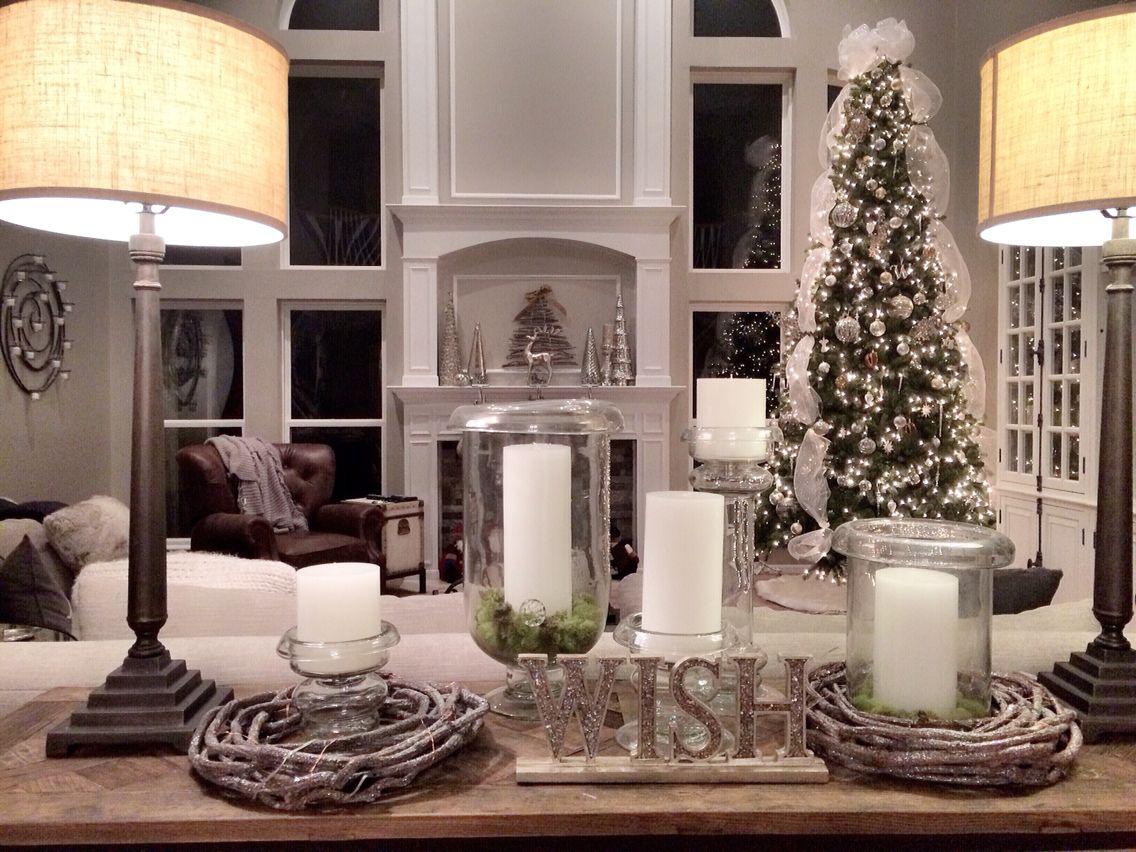 Rustic Luxe Christmas. 12 Ft Christmas Tree Mercury Glass