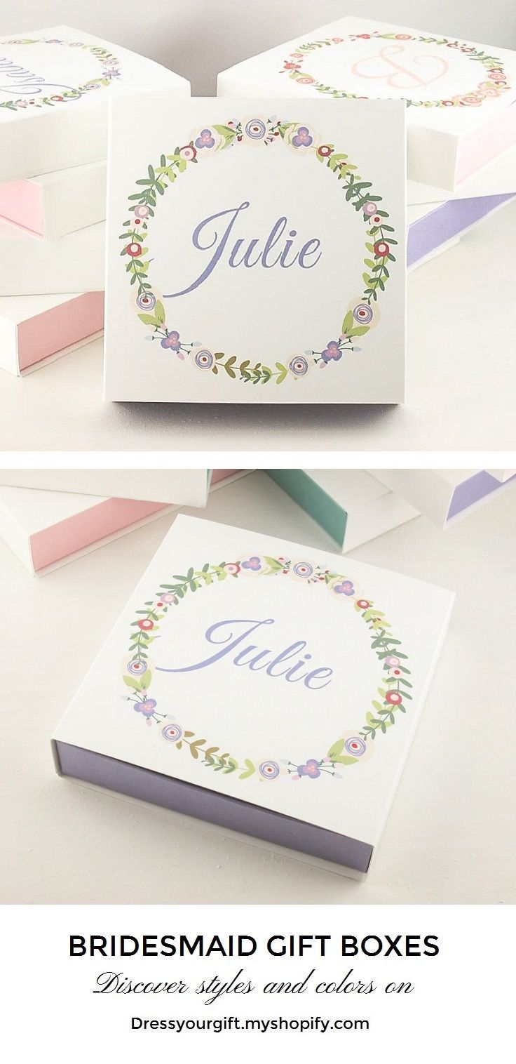 Purple Bridesmaid gifts Personalized Bridesmaid gift boxes ...