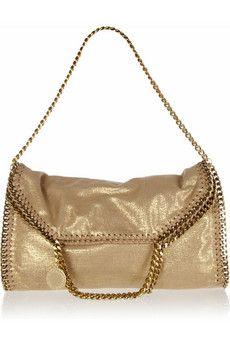 fcae67de72 Stella McCartney Falabella metallic faux suede bag