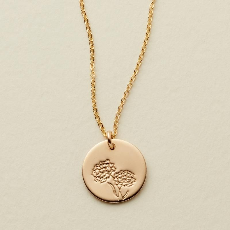 may birth month flower necklace