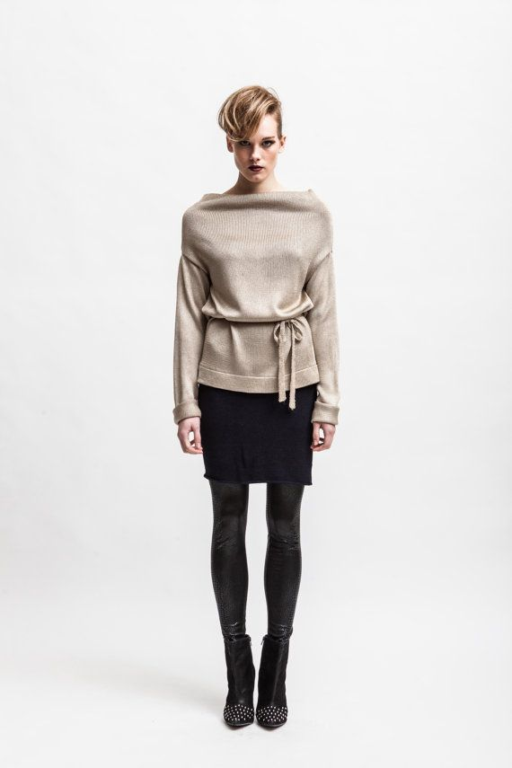 GELSEY // Knitted loose fit silk women's sweater  di CodeTricot, €99.00