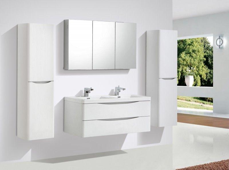 badm belset smile 1200 lilie wei spiegel und h ngeschrank optional badewelt badm bel badm bel. Black Bedroom Furniture Sets. Home Design Ideas