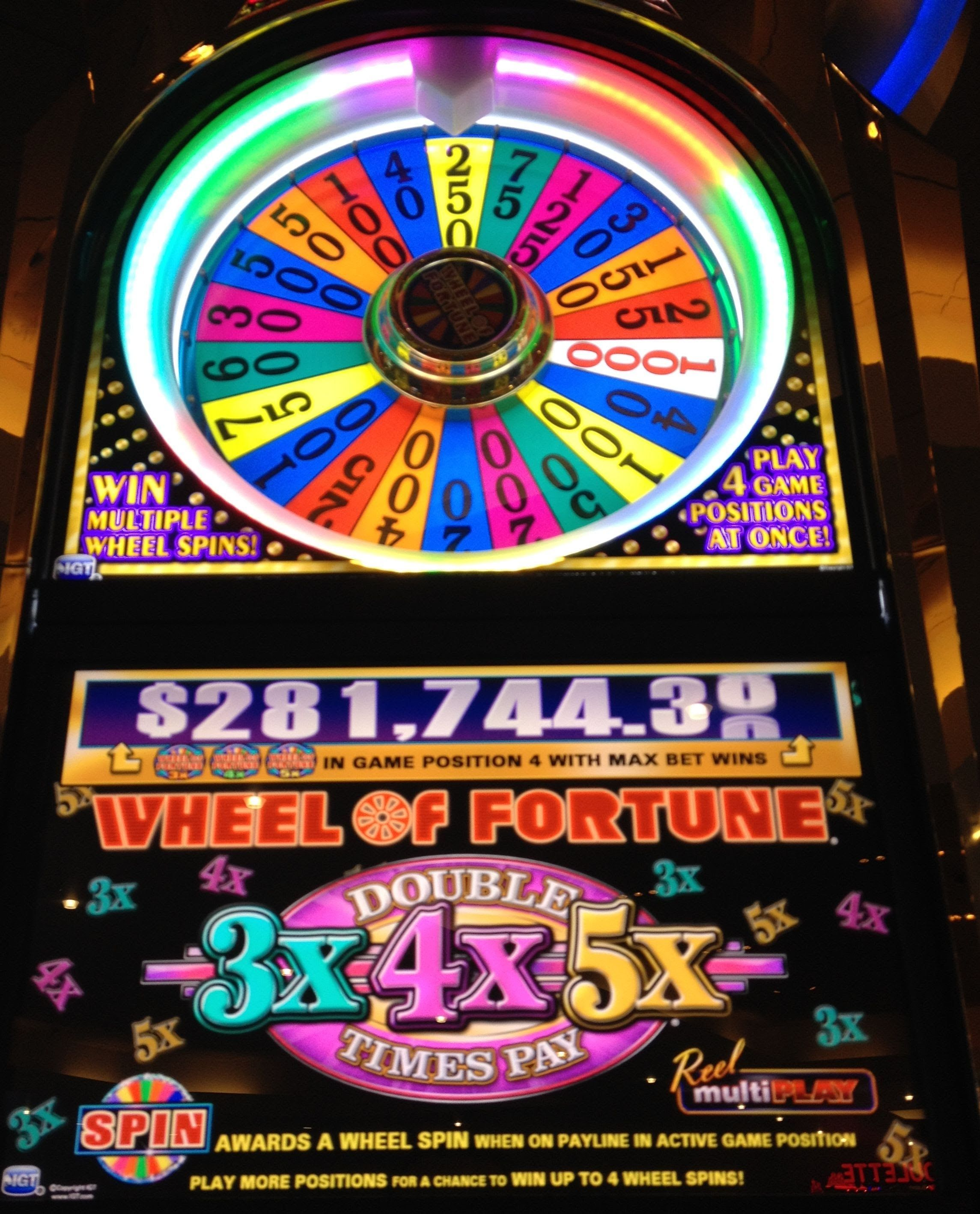 Wheel of fortune slot machines gamble equipment