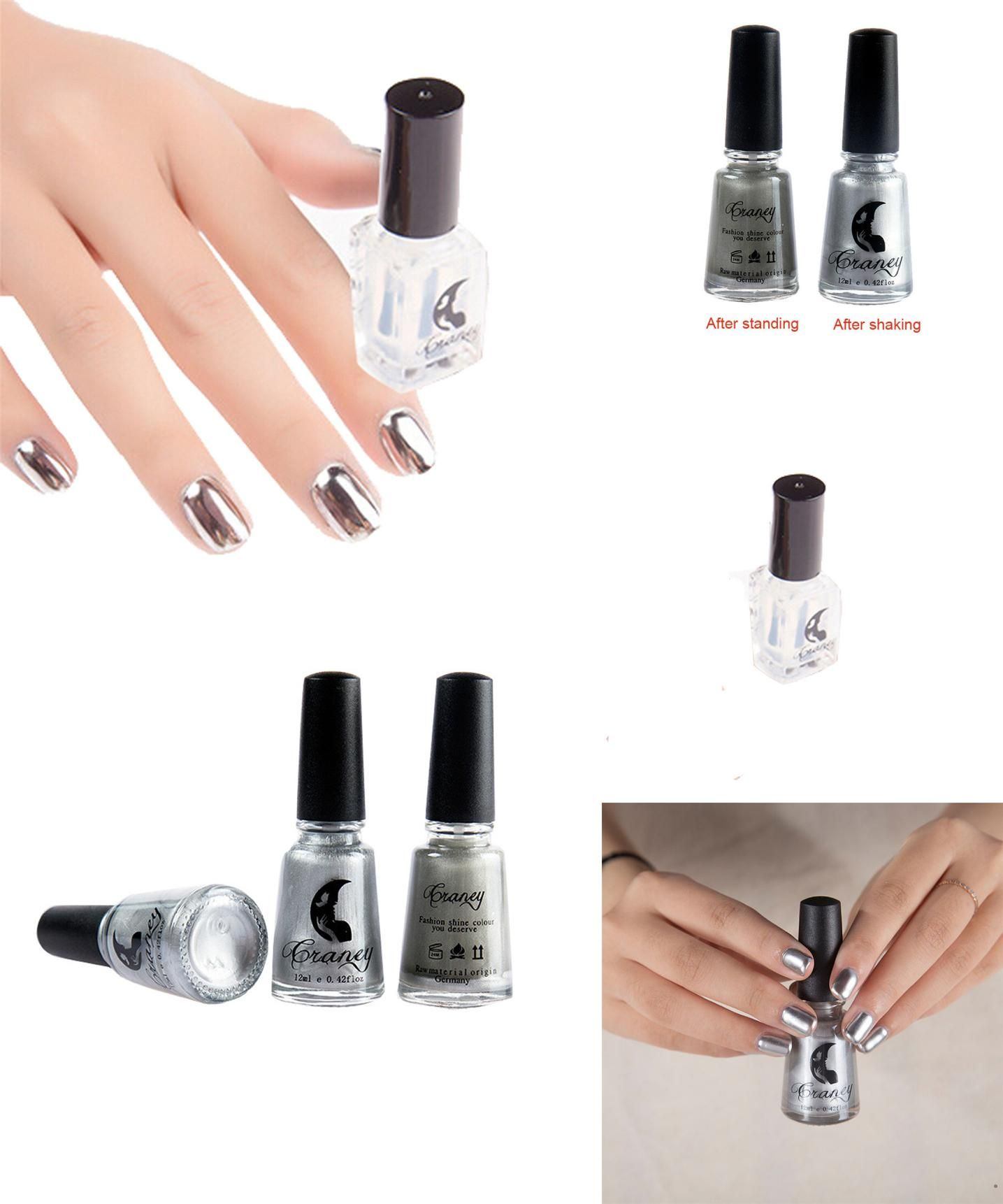 Visit to Buy] Love Beauty Female Silver Mirror Metal Color Nail Art ...