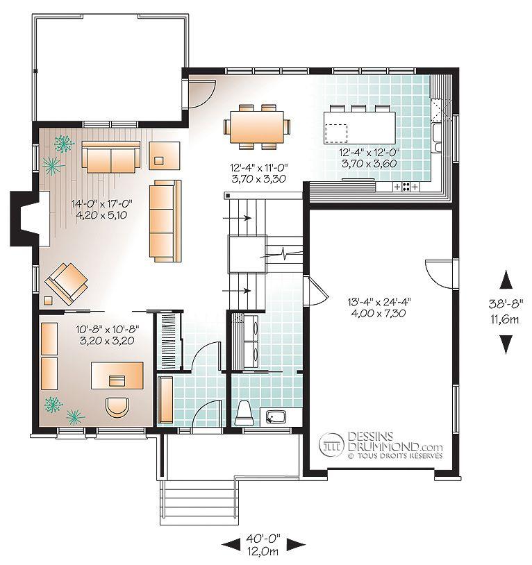 Zen / Contemporain W3469 Maison Laprise - Maisons pré-usinées - modele plan maison plain pied gratuit