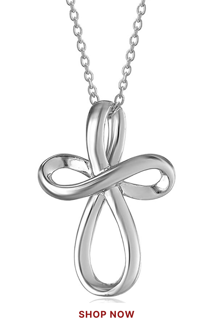 Sterling Silver Open Loop Cross Pendant Necklace In 2020 Trendy Necklaces Pendant Necklace Necklace