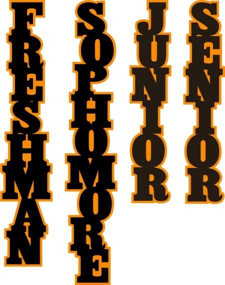 Freshman, Sophomore, Junior, Senior cuts