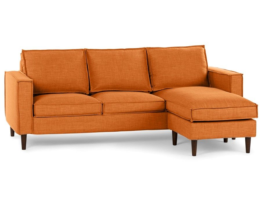 York Interchangeable Sectional Sofa Orange 422 5