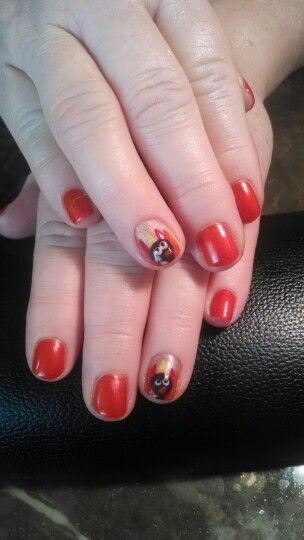 Thanks Giving Free Hand Nail Art This Is How We Do Turkey Https