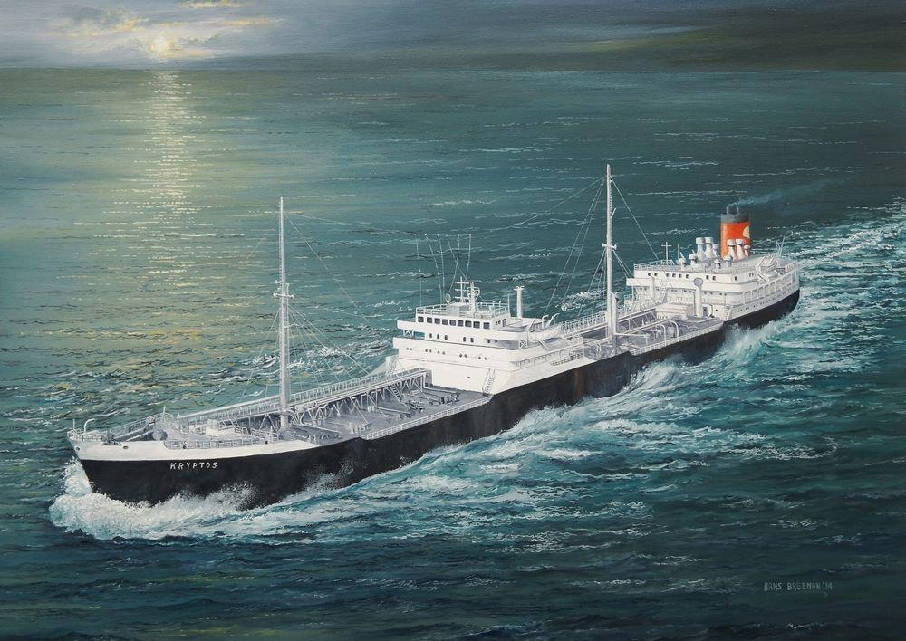 Shell Tanker Kryptos 1955 Gemi