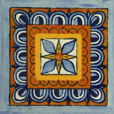 Decorative Mexican Tiles Traditional Mexican Tile  Rosa De Los Vientos  Tile Art