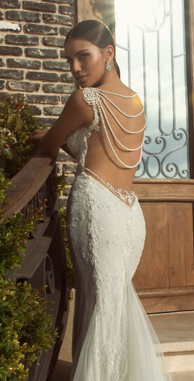 3c1a28961856 pearl back detail wedding dress | see more from Galia Lahav's stunning new bridal  collection here