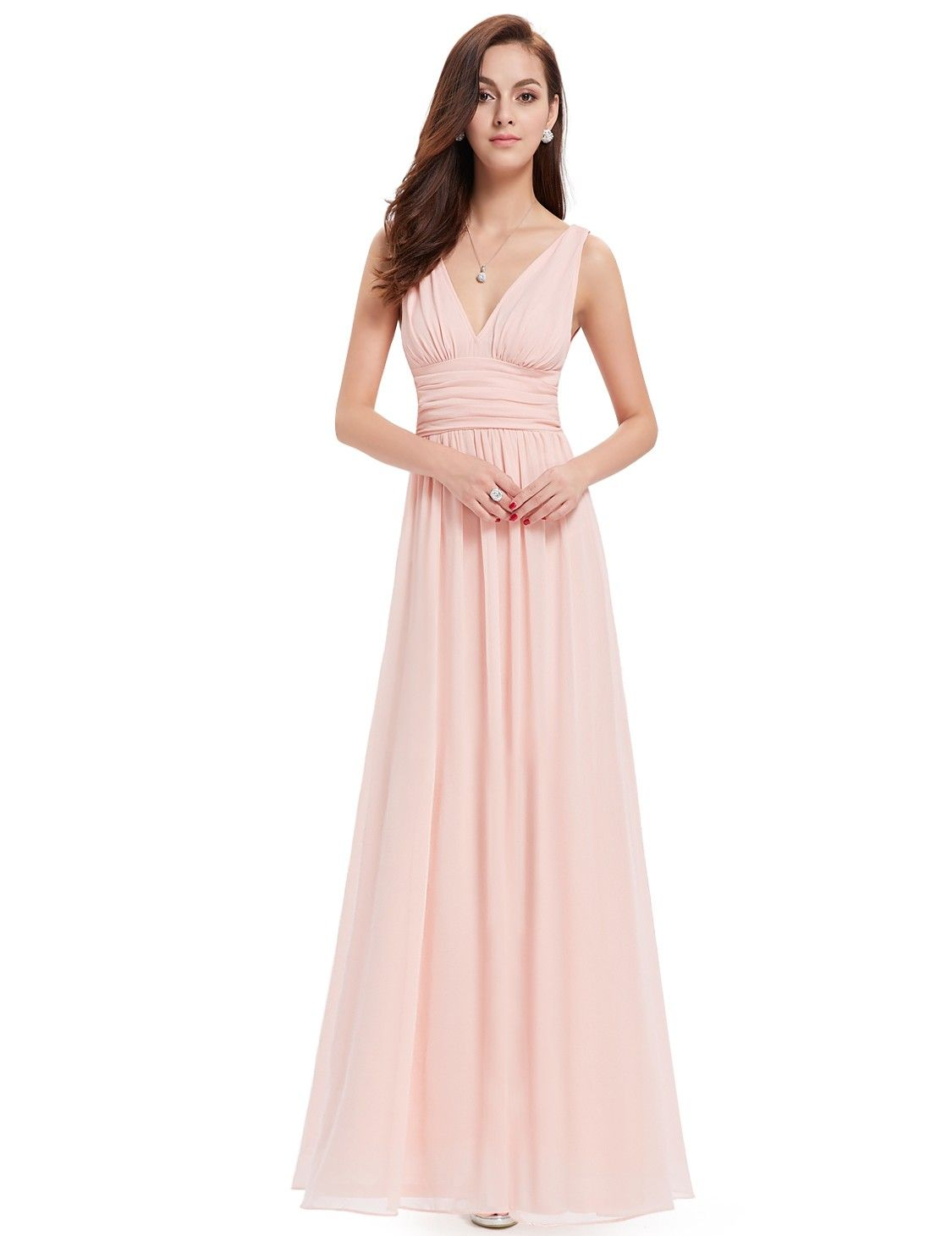 Sleeveless V-Neck Semi-Formal Maxi Dress | Pinterest