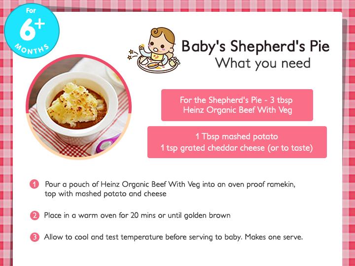 Baby Shepherd S Pie Recipe Https Twitter Com Heinzbabies Https Facebook Com Sgheinzbabies Heinz Recipe Organic Beef Shepherds Pie
