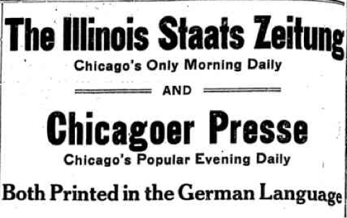 Chicago Genealogy: Chicago German-Language Newspapers