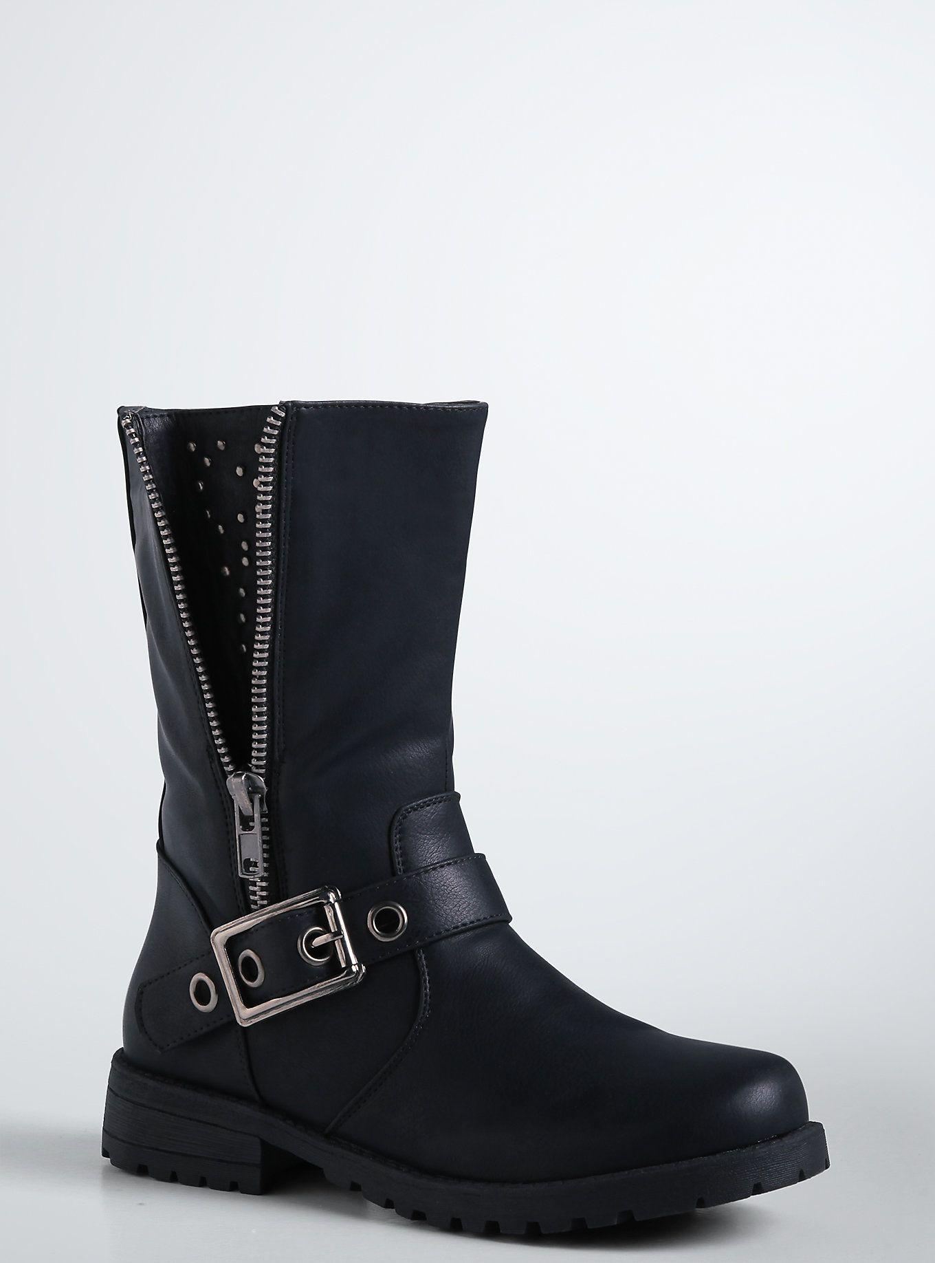 10e0fff78d72 Studded Side Zip Moto Boots (Wide Width)