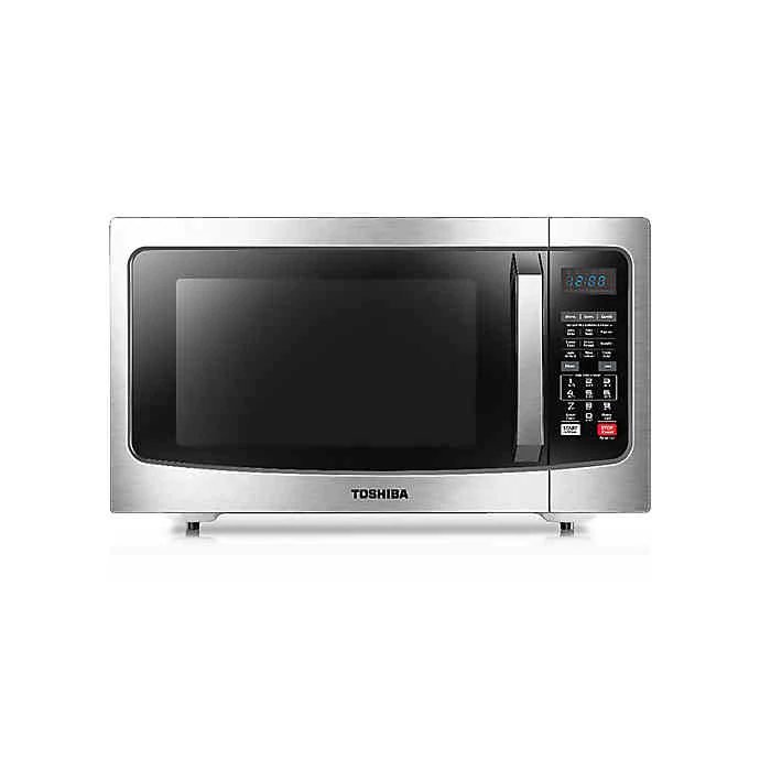 Toshiba 1 5 Cu Ft Convection Microwave Oven In Stainless Steel