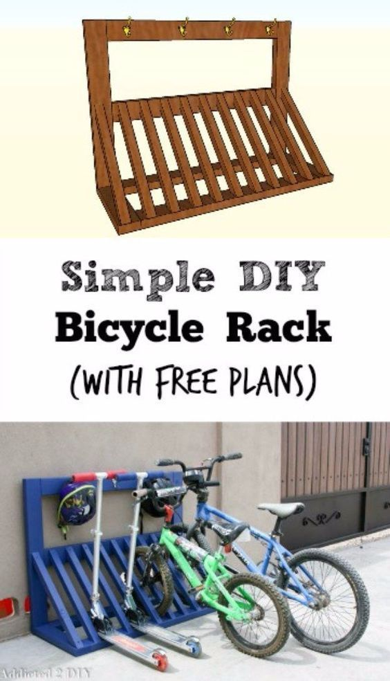 Diy projects your garage needs simple diy bicycle rack do it diy projects your garage needs simple diy bicycle rack do it yourself garage makeover solutioingenieria Image collections