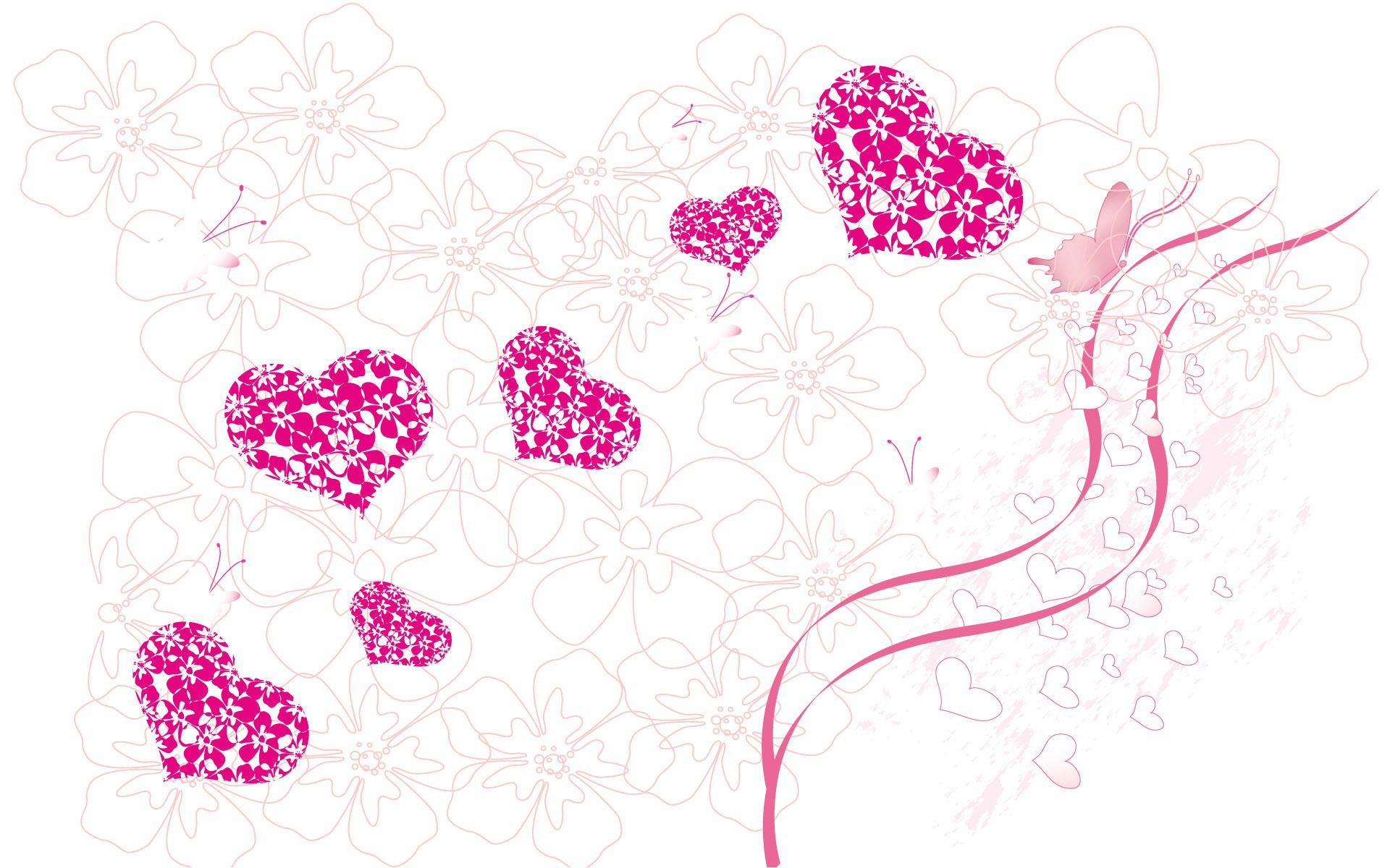 heart, love, butterfly, pink, girly,pretty | ♥♥~hearts