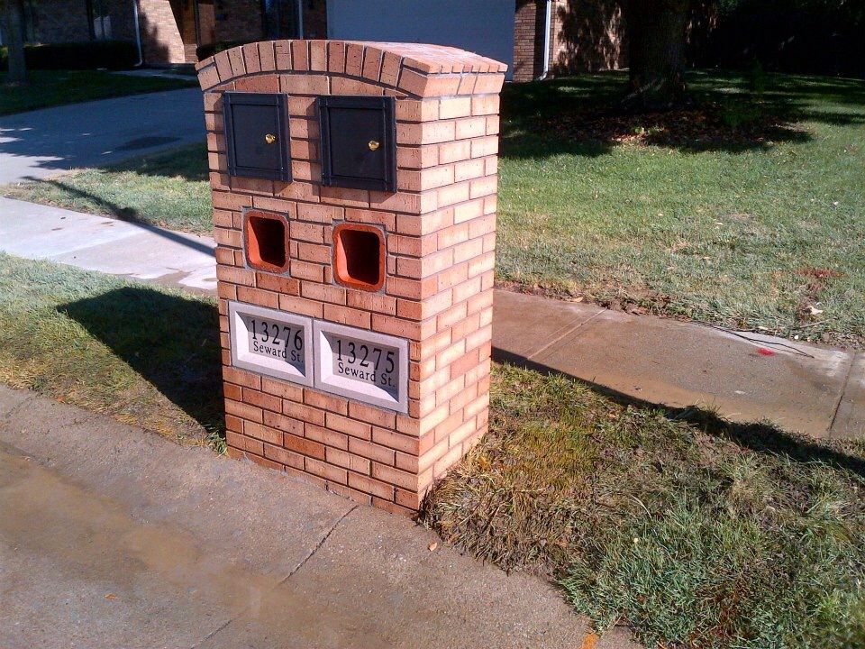 Double Brick Mailbox Mailbox Landscaping Brick Mailbox 400 x 300