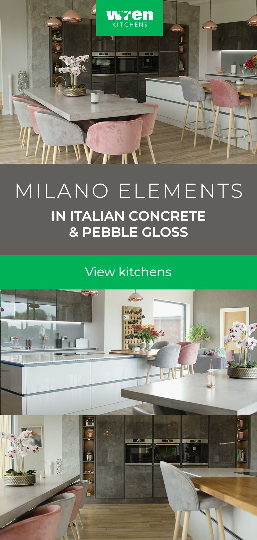 The smooth, chic lines of this Milano Contour kitchen
