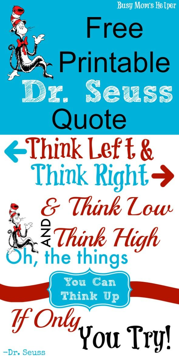 graphic relating to Printable Dr Seuss Quotes identify Pin upon Dr. Seuss Crafts and Guidelines for Little ones