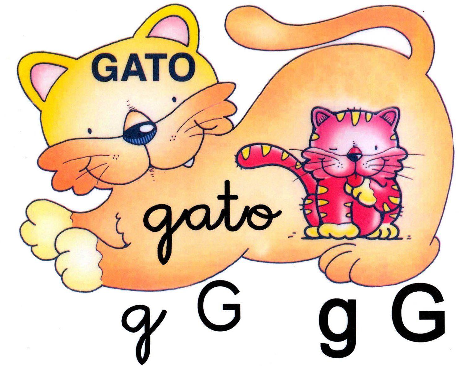 Letra g minúscula, G mayúscula. Gato. | Education | Pinterest ...