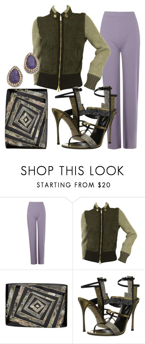 """""""Chit Chat"""" by fashionforwarded ❤ liked on Polyvore featuring Boohoo, Gucci, Rafe, Sergio Rossi and Native Gem"""