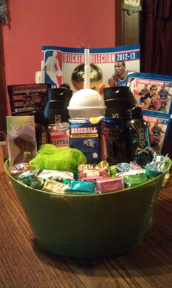 Easter Basket For A 10 Year Old Boy Easter Baskets Christmas Gifts For Boys Boys Easter Basket