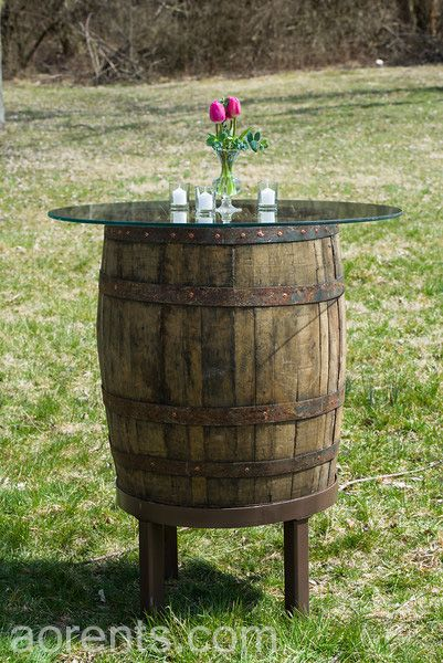 High Top Barrel Table For Cocktail Hour. All Occasions Event Rental,  Cincinnati, OH