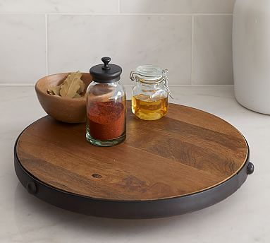 Dining · Vintage Blacksmith Metal U0026 Wood Lazy Susan