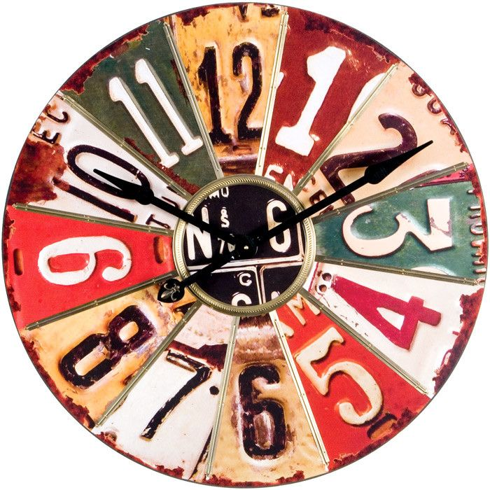 Upcycled Licenses Wall Clock