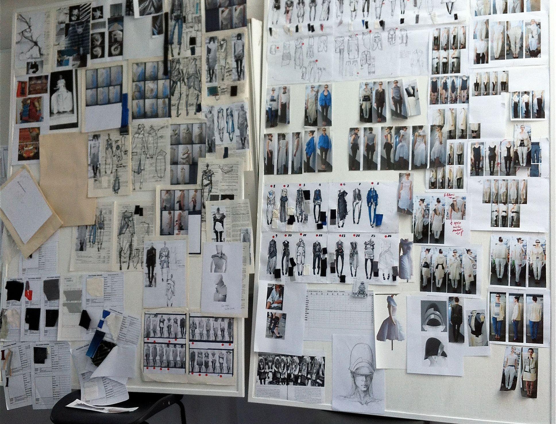 Set The Mood Mood Board Fashion Design Studio Workspace