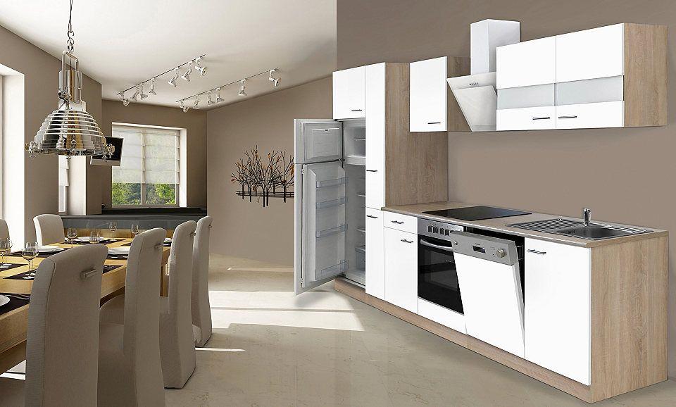 Respekta Küchenzeile mit E-Geräten »Hamburg«, Breite 310 cm Jetzt - küchenblock ohne e geräte
