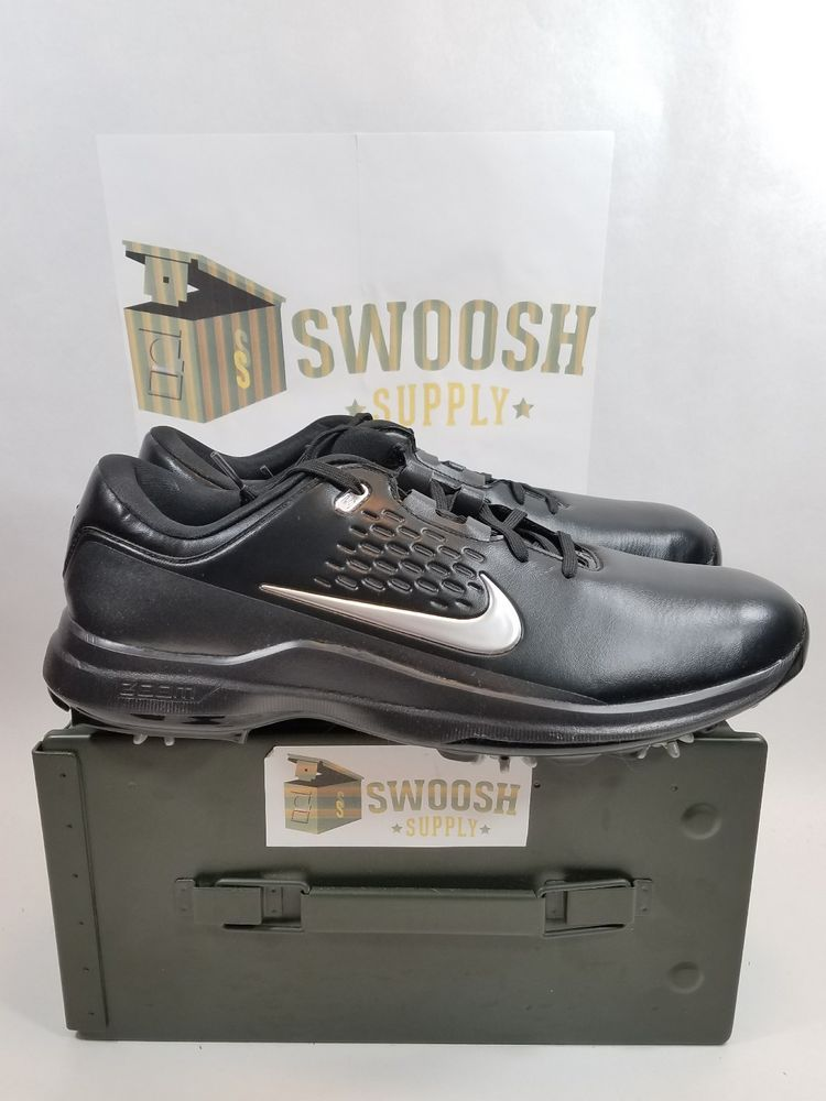 finest selection 47cb2 51285 Nike Golf Air Zoom TW71 Black Metallic Silver AA1990 002 Size 11.5 Tiger  Woods  Nike