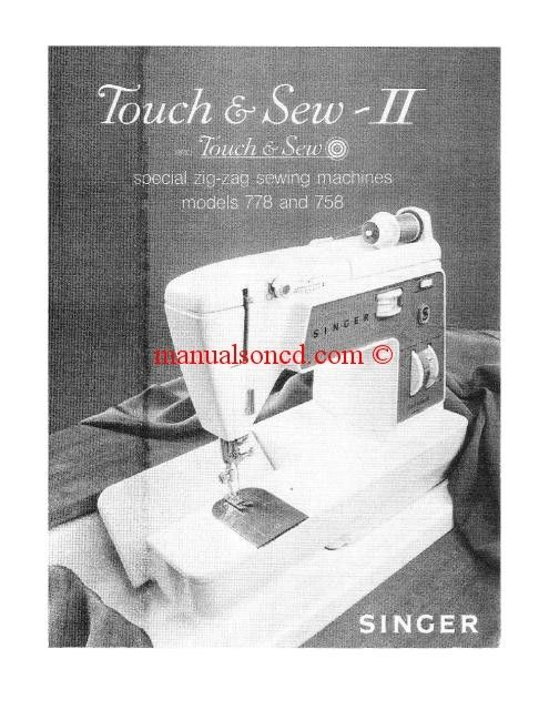 Singer  Sewing Machine Instruction Manual