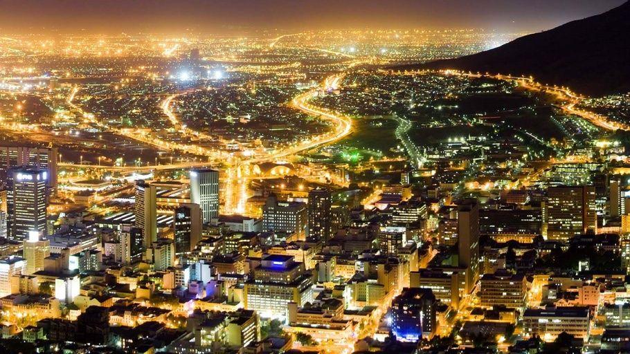 accra, capital of ghana, ghana, accra ghana night city