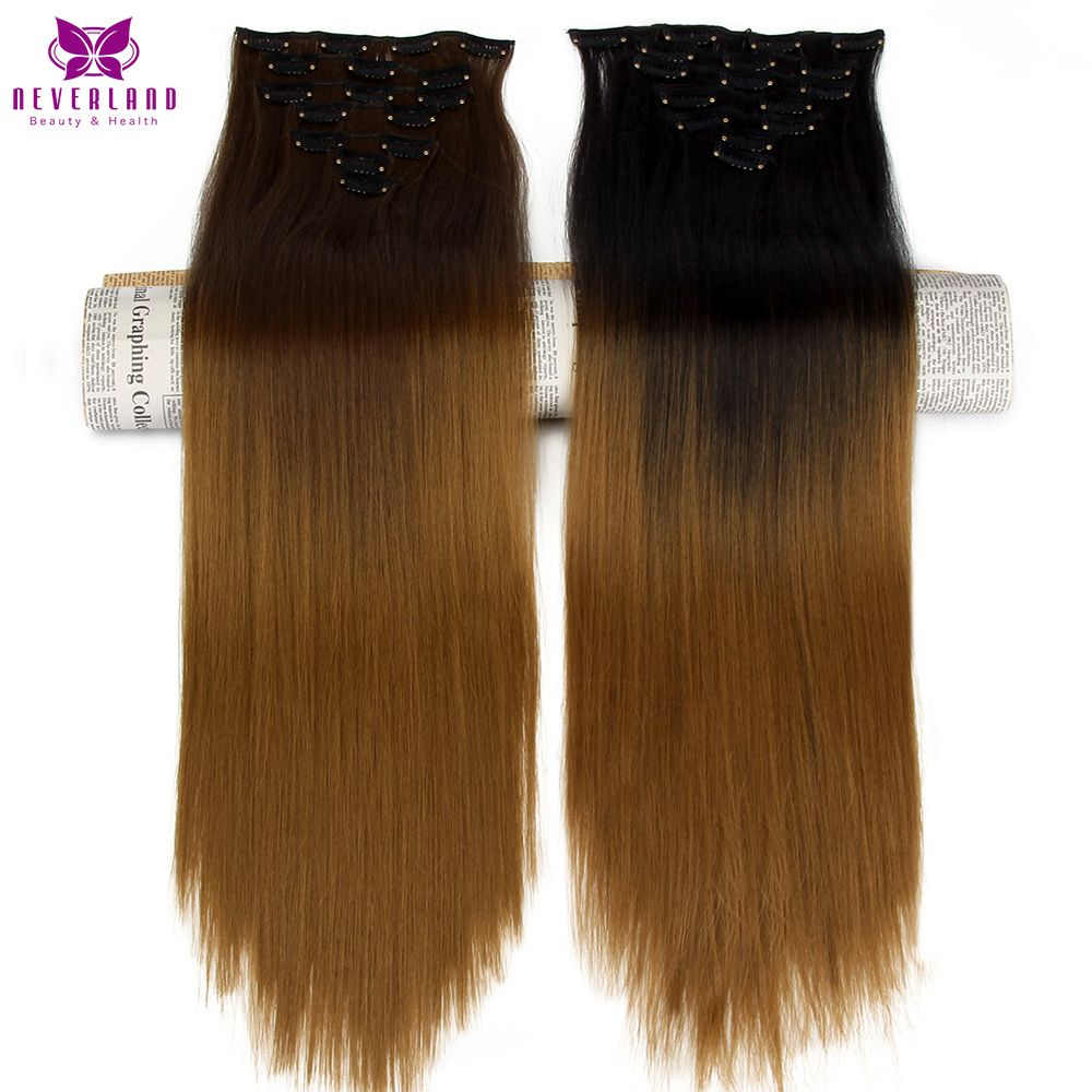 Neverland 827 1b27 Brown Ombre Synthetic Hairpieces 24