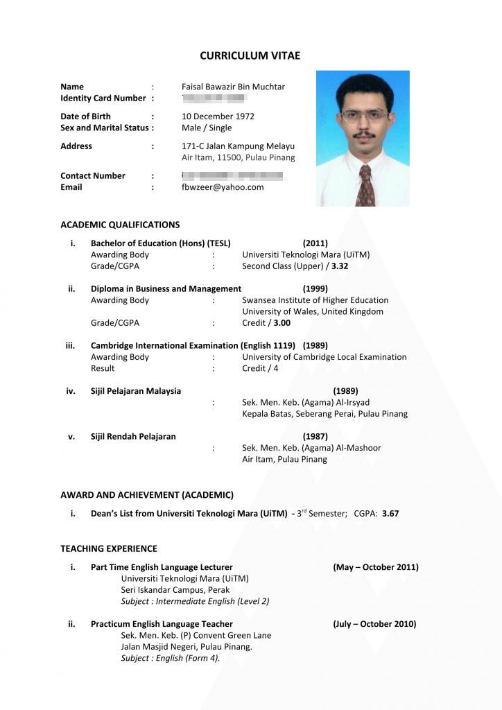 Resume Terbaik - Contoh Resume Terbaik Terkini Lengkap ...